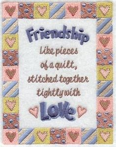 Machine Embroidery Designs at Embroidery Library! - Friends & Family - Sayings & Samplers