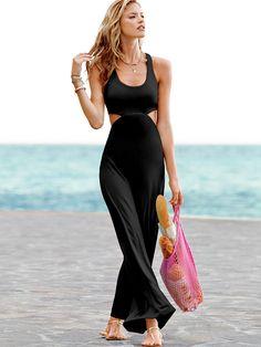 Victoria's Secret Cut-out Bra Top Maxi Dress | $44.99 #beach #honeymoon #fashion