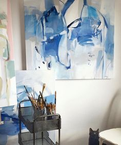 Morning light. Morning kitty. #workinprogress #studioscenes #christinabaker