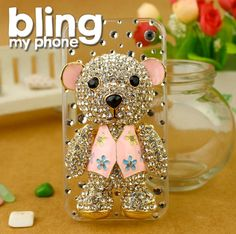 #handmade #iphone #samsung #mobile #phone #cases #phonecases check out http://www.facebook.com/BlingImports Rhinestone/Crystal/Diamond Hard phone Case - this 'Waistcoar Bear' model just £20 and post free (in 4 different colours) - pre-orders yours via Facebook