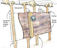 Workshop Storage, Workshop Organization, Diy Workshop, Woodworking Saws, Woodworking Projects, Serra Circular Manual, Atelier Creation, Best Circular Saw, Panel Saw