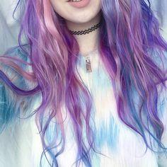 Blue, pink and purple dye hair ♥ Pinterest : Elisa Gyn
