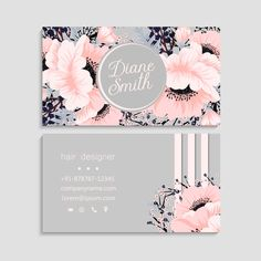 Flower business cards pink flowers | Free Vector #Freepik #freevector #business-card #flower #business #floral Beauty Business Cards, Luxury Business Cards, Elegant Business Cards, Business Card Design, Free Business Logo, Free Business Card Templates, Bakery Business Cards, Vector Free, Pink Flowers