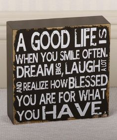 Loving this 'A Good Life' Sign on #zulily! #zulilyfinds