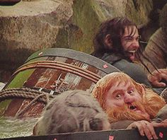 Aidan Turner had a lot of fun in the barrels! In some certain scenes in Desolation of Smaug, the barrel escape, you can see him laughing and acting silly.