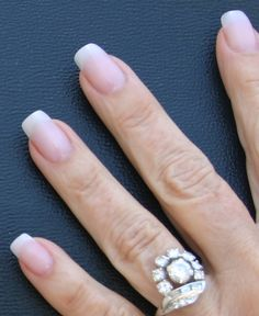 natural looking squoval artificial nails | acrylic nails that look natural