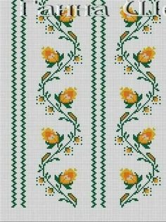 Cross Stitch Rose, Cross Stitch Borders, Cross Stitch Flowers, Cross Stitching, Cross Stitch Patterns, Easy Knitting Patterns, Bead Loom Patterns, Mothers Day Crafts, Loom Beading