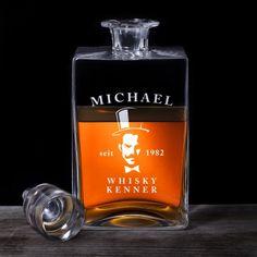 Whisky Karaffe Deluxe - mit Gentleman Gravur via: www.monsterzeug.de