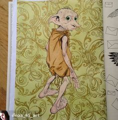 Harry Potter Coloring Book Craft Books Adult Colouring Dobby Puppet Vintage Pages