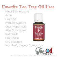 Tea Tree oil is one of the most versatile oils. Come read about JUST a fraction of the ways you can use it only from www.theoildropper.com/teatree