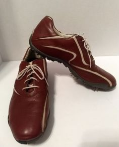 Footjoy Casual Lace Up Golf Shoes size 9 5 Brown 29051c671