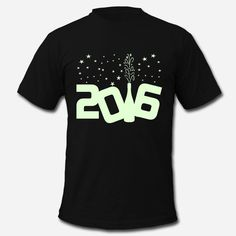 Happy New Year 2016 GLOW IN THE DARK T-shirts. #party #NYE
