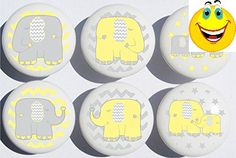 These #Elephant Ceramic #Drawer Knobs add a perfect designer touch for Children's dresser drawer pulls, cabinet drawer pulls, furniture knobs, nursery changing ta...