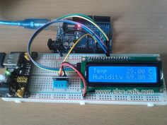 The data from Sensor send to Arduino UNO and then displaying the humidity and temperature on the LCD Display. Parts List Arduino UNO LCD display Arduino Lcd, Automatic Watering System, Humidity Sensor, Arduino Projects, Temperature And Humidity, Diy Electronics, Facebook Sign Up, Coding, Technology