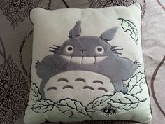 "Studio Ghibli My Neighbor Totoro Soft Stuffed Plush Cushion Pillow 15 7"" x 15 7""   eBay"