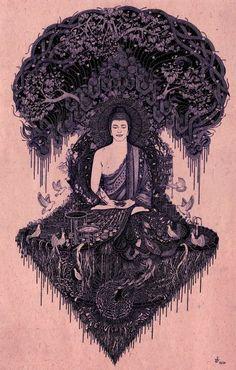 Buddha on Behance Buddhism Wallpaper, Buddha Wallpaper Iphone, Spiritual Wallpaper, Buda Wallpaper, Zen Wallpaper, Hippie Wallpaper, Buddha Painting, Buddha Art, Buddha Background