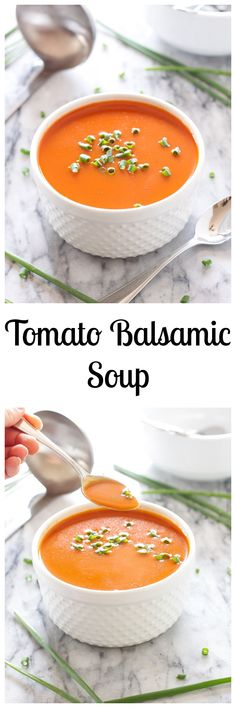 Tomato Balsamic Soup - This was delicious. We made this the end of January this year, and ate it with some roasted chicken paninis. It was FABULOUS, the taste was incredible. Chili Recipes, Soup Recipes, Dinner Recipes, Cooking Recipes, Healthy Recipes, Salad Recipes, Dinner Ideas, Chicken Recipes, Healthy Food