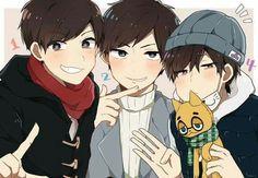 Osomatsu-san- Osomatsu, Karamatsu, y Ichimatsu Dark Anime Guys, All Anime, Me Me Me Anime, Manga Anime, Anime Art, Mafia, Boy Illustration, Ichimatsu, Light Novel