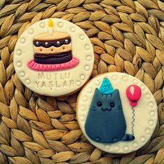 CAFEMORİN PUSHEEN CAT BIRTHDAY COOKIE Cat Birthday, Birthday Cookies, Pusheen Cat, Sugar, Cats, Desserts, Food, Tailgate Desserts, Gatos