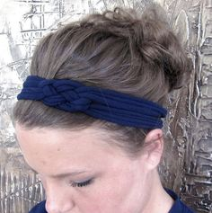 Braided headband made from an old t-shirt.
