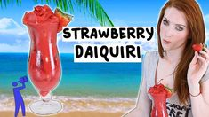 How to make a Strawberry Daiquiri - Tipsy Bartender. Made this and it is amazing! Daiquiri Cocktail, Mango Daiquiri, Cocktail Drinks, Strawberry Daquiri, Jolly Rancher Hard Candy, Cocktail Videos, Cocktail Night, Tipsy Bartender, Fun Cocktails