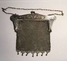 Vintage bag/purse. German silver chain bag. Gorgeous by LukesLoot