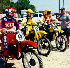 Smith, Hannah & Decoster Motocross Racer, Motorcycle Racers, Motocross Bikes, Vintage Motocross, Motorcycle Art, Honda Dirt Bike, Dirt Bike Racing, Honda Motorcycles, Vintage Bikes