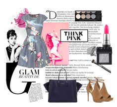 """""""Think Pink - Colorful Dresses"""" by tizocaspp ❤ liked on Polyvore featuring Balmain, ALDO, Luxo, Ted Baker, Balenciaga, Witchery, Urban Decay, MAC Cosmetics, Bliss and NARS Cosmetics"""