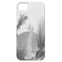 Monochrome Witch Full Moon Broom Magic Spell iPhone 5/5S Cases