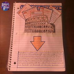 Ancient Rome Interactive Notebook with 16 pages of awesome interactive activities!