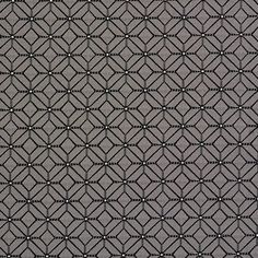Black and Grey Abstract Diamond Damask Upholstery Fabric