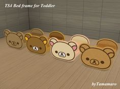 Sims Rilakkuma bed frame for toddler by tamamaro Sims Rilakkuma Set by tamamaro password: tamamaro Sims 4 Toddler, Toddler Toys, Baby Play Pin, Sims 4 Beds, Muebles Sims 4 Cc, Sims 4 Bedroom, Sims 4 Cc Kids Clothing, Sims 4 Cc Furniture, Kids Furniture