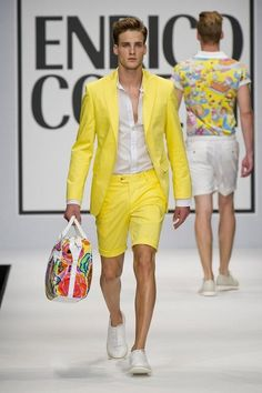 Never thought yellow can be enticing... total look by Enrico Coveri S/S 2013