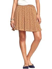 Women's Pleated Crinkle-Chiffon Skirts - OLD NAVY