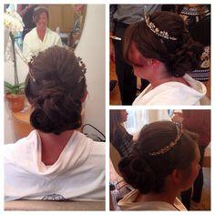 Bridal hair #upwork #bride #crown #enzoriccobenesalon
