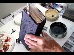 How to make a brick book. A painting program idea, where teens transform bricks into their favorite books! These bricks could be used as book ends or as decorations for any garden. This video tutorial shows yous step by step how to make this book-end and can be shown at an actual program to supplement the instructions.