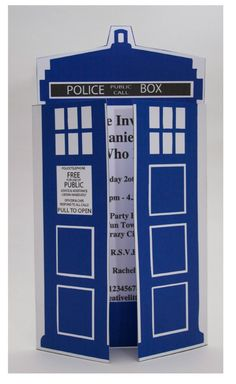 Dr Who party invitation