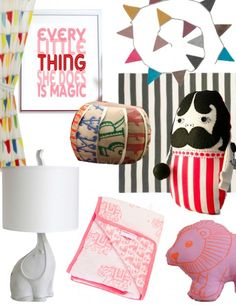 For crafty friends making things or friends that want to get something not on this list- We don't really have colors, but our nursery is 'french circus' themed.