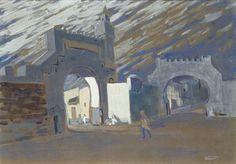 Wassily Kandinsky (Russian, 1866-1944), Bab Souika in Tunis - Moonlit Night, 1905. Gouache on board, 38 x 52.8 cm.