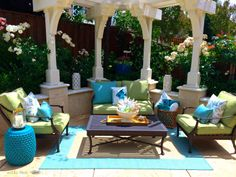 Budget Friendly Ideas For Outdoor Rooms Cobalt Blue