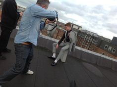 Behind the scenes at Norwich Fashion Week photo shoot.. Industrial