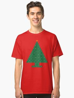 Got Chemistree? / This chemistree periodic table Christmas tree features all 118 elements. The image is transparent, so it can be placed on any color background you desire. Periodic Table Of The Elements, Female Models, Christmas Sweaters, Heather Grey, Chiffon Tops, Classic T Shirts, Christmas Tree, Phone Cases, Stickers