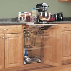 On my wish list if there is room - a pull out cabinet space for the kitchen aid mixer.