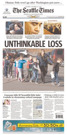 Newtown Shooting Coverage. NEVER FORGET!!!! 20 first graders & 6 adults shot dead in less than 5 minutes.