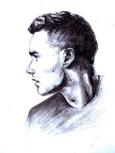 Liam (from One Direction) Art One Direction Perfume, One Direction Fan Art, One Direction Drawings, Liam Payne, Amazing Drawings, Cool Drawings, Desenhos One Direction, Figure Drawing Practice, Fanart