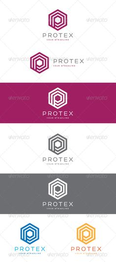 Protex Logo — Vector EPS #letter #tech • Available here → https://graphicriver.net/item/protex-logo/8365086?ref=pxcr