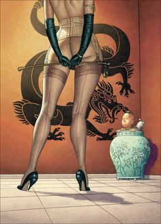 A sexualized Tintin! Whoa! by: Claude Mirande Illustrateur