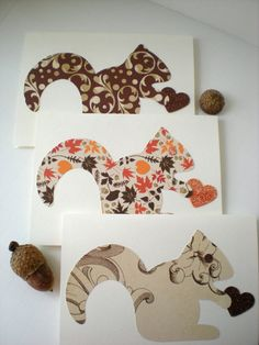 Squirrel Heart Cards