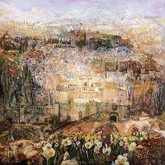 Ofra Friedland (Israel, born 1959) 'Jerusalem in Bloom'
