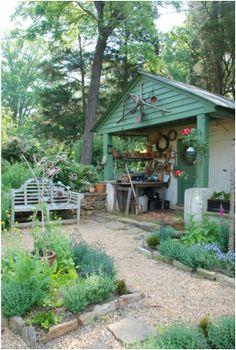 original milk house in the kitchen garden of the historic oakton residence in marietta georgia - Garden Sheds Marietta Ga